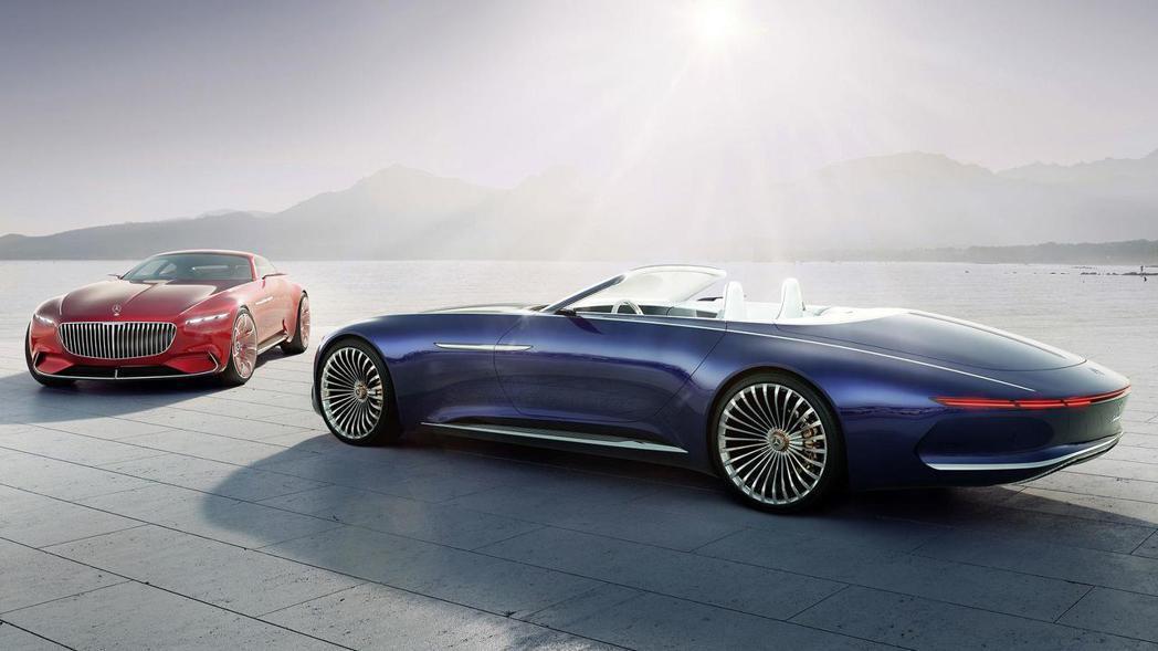 在美國Pebble Beach圓石灘車展中亮相Vision Maybach 6 Cabriolet Concept概念車,讓人看到原廠積極進攻層峰客層的企圖心。 圖片來源:Mercedes-Benz
