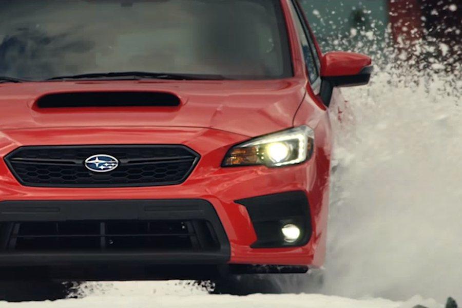 半沙半雪路面,WRX表現仍頗具水準。 圖片摘自:Youtube