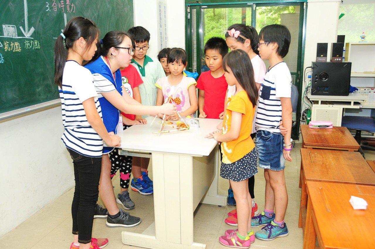靜宜大學師資培育中心教學團隊日前到台中市新社區的福民國小,舉辦「樂活教學WIN─...