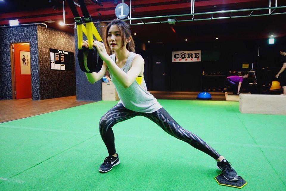 曾詠熙最近迷上健身。圖/飛蝶音樂提供