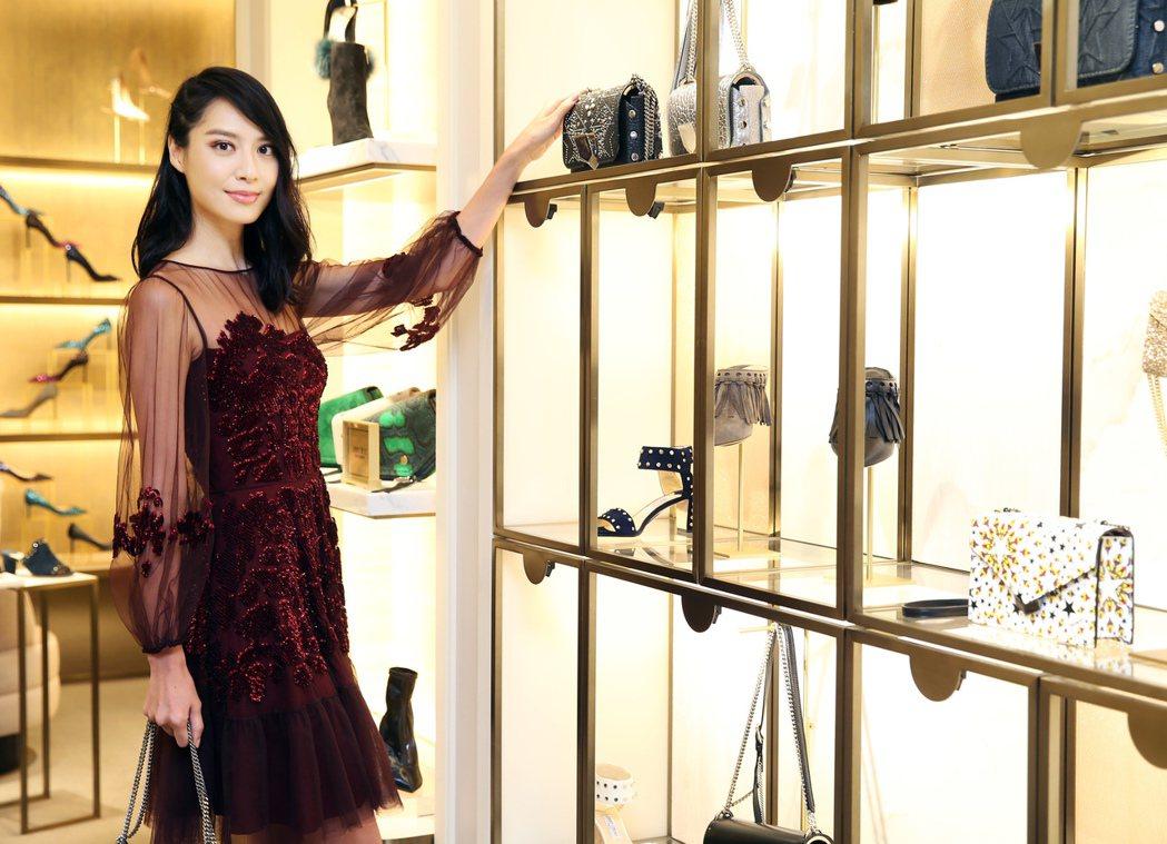 白歆惠透露老公喜歡她穿尖頭高跟鞋。記者徐兆玄/攝影