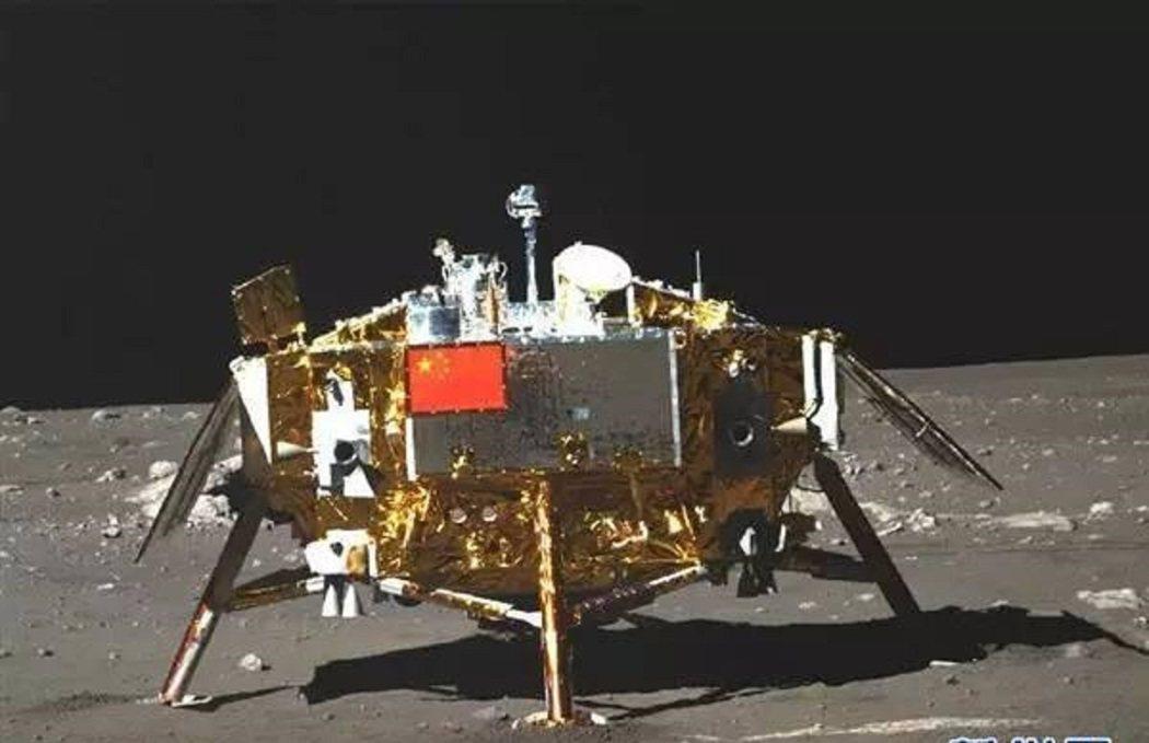 大陸國家天文台對外發布「嫦娥三號」探測器照片。 圖/翻攝自網路