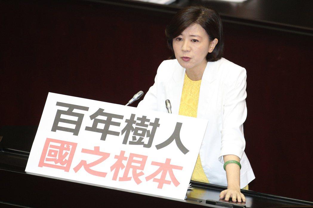 國民黨立委王育敏曾提出臨時提案,要求衛福部「3個月內找出癌症發生率上升的原因」,...