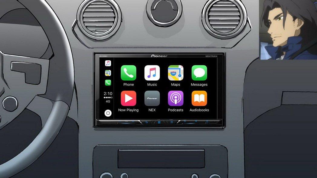 PioneerZ系列智慧型車載主機螢幕畫面。 圖/Pioneer提供