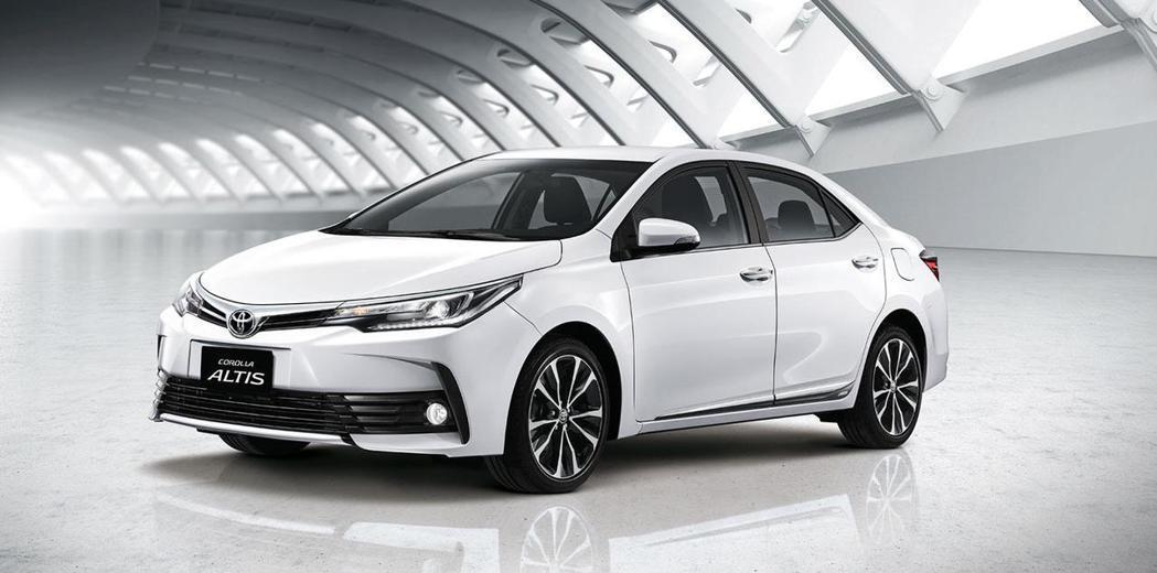 Toyota Corolla Altis。圖/Mitsubishi提供