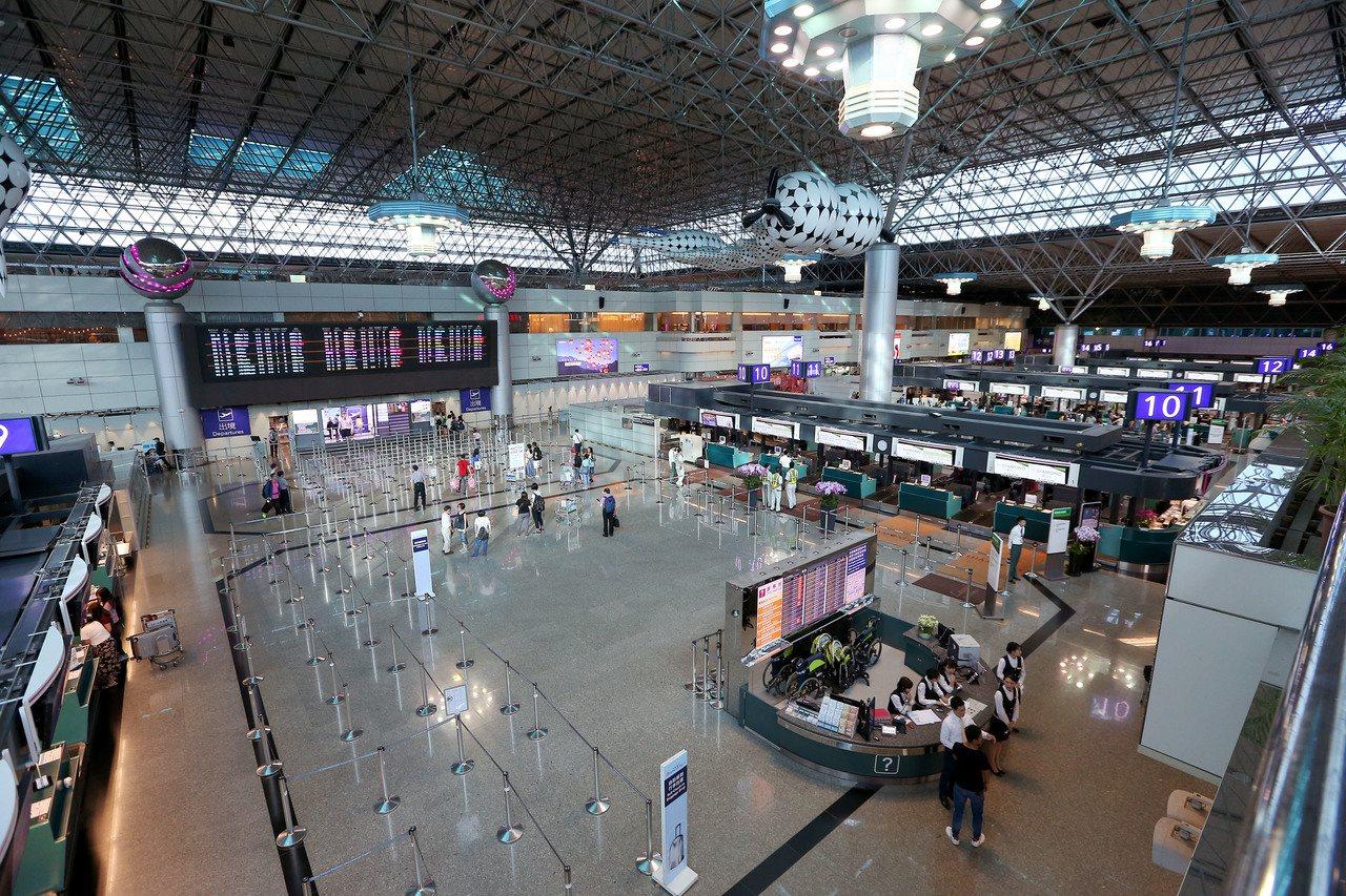 圖為第2航廈出境大廳。記者陳嘉寧/攝影