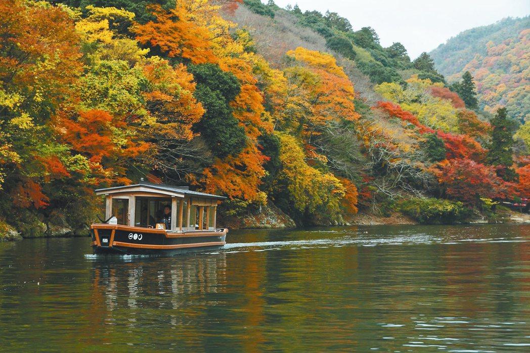 虹夕諾雅京都要搭船前往。 圖/星野集團提供
