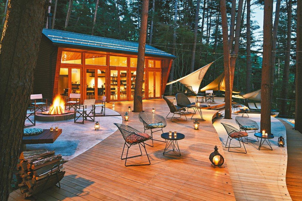 虹夕諾雅富士有度假的氛圍。 圖/星野集團提供