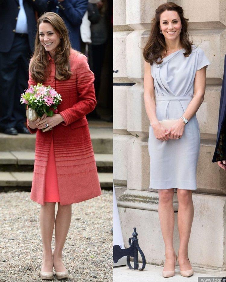 凱特王妃是著名的裸色高跟鞋控。圖/達志影像