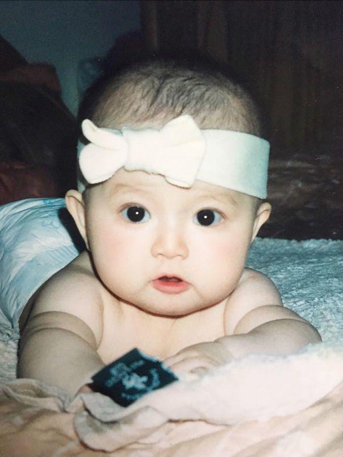 蔡瑞雪嬰兒時期的照片。 圖/擷自蔡瑞雪IG