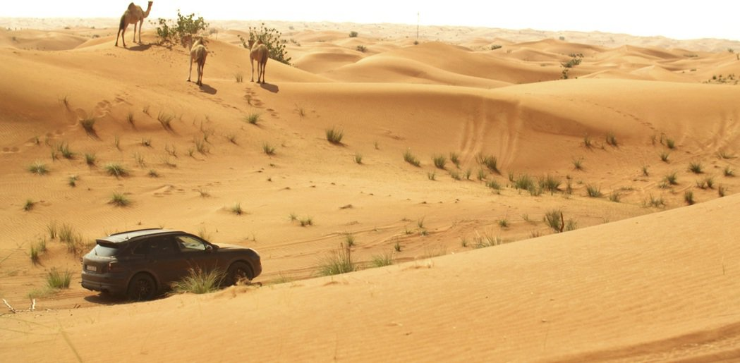 全新Cayenne原型車在杜拜接受測試。圖/Porsche提供