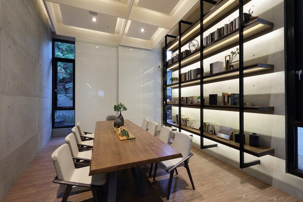 閱覽室在一樓。 圖片提供/歐美建設