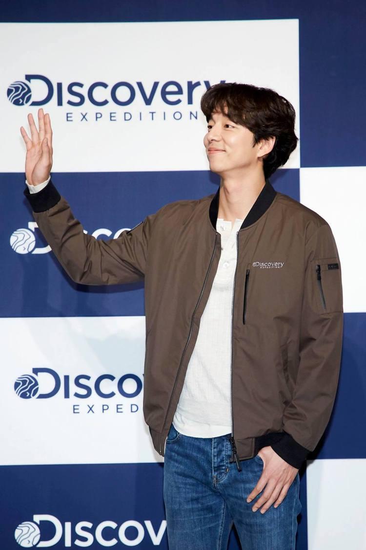 孔劉在韓國出席Discovery Expedition秋冬系列發表會,暨代言五周...