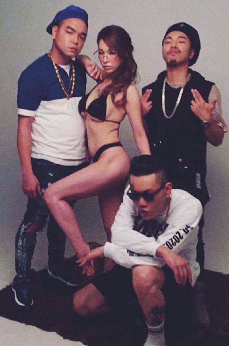 嘻哈團體187INC作品結合AV產業。圖/混血兒娛樂提供