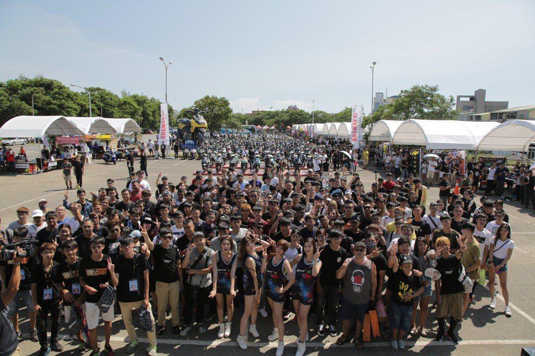 YAMAHA BW'S車聚近千人熱情參與。圖/YAMAHA提供