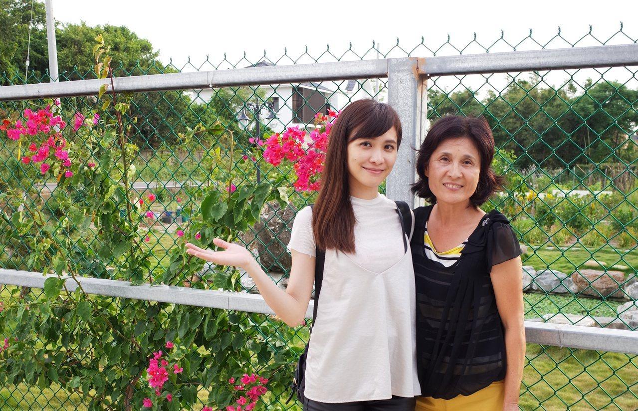 「佃農」媽媽,樂意為她的寶貝女兒看顧這一方可愛的農莊。