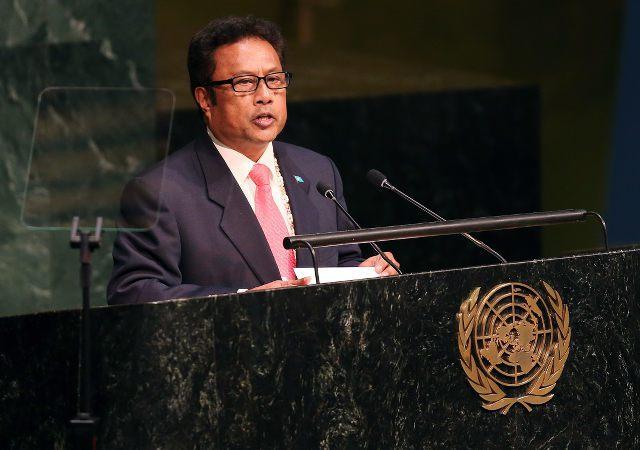 帛琉總統雷蒙傑索。 歐新社