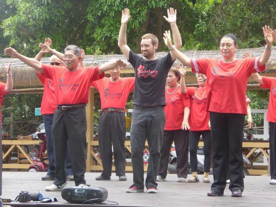 道格拉斯熱中參與部落活動。 圖/道格拉斯提供