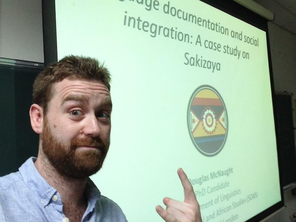 34歲的道格拉斯多年來研究撒奇萊雅語言。 圖/道格拉斯提供
