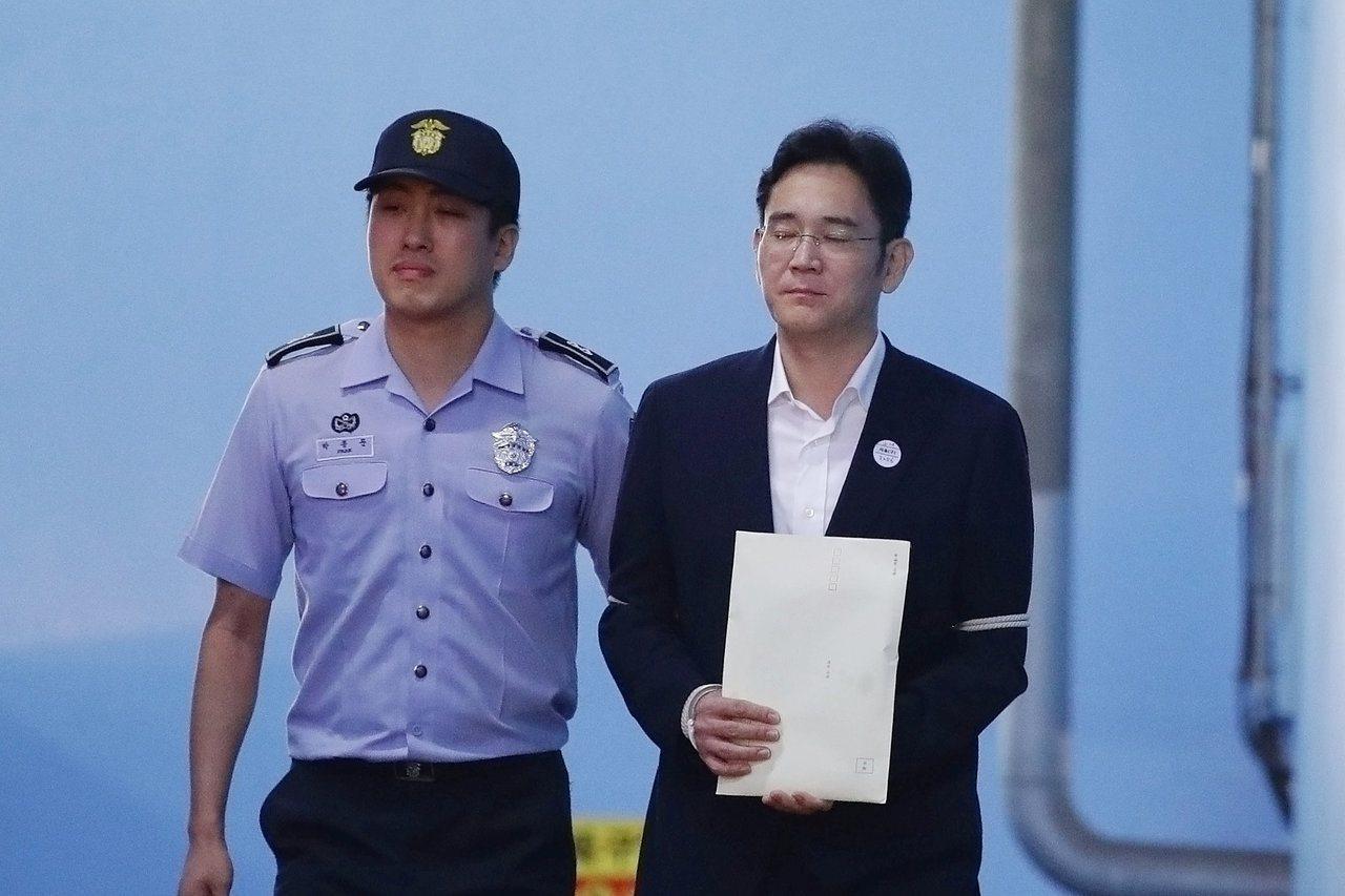 李在鎔25日出庭聆判後還押。(路透)