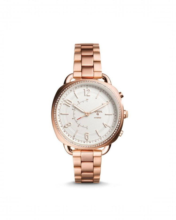 Fossil Q Accomplice Hybrid智慧型女款腕表,鍍玫瑰金不鏽...