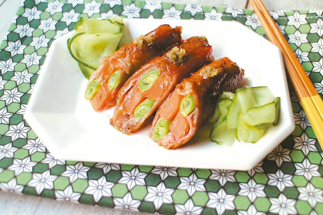 柚子胡椒風雙色蔬菜肉捲