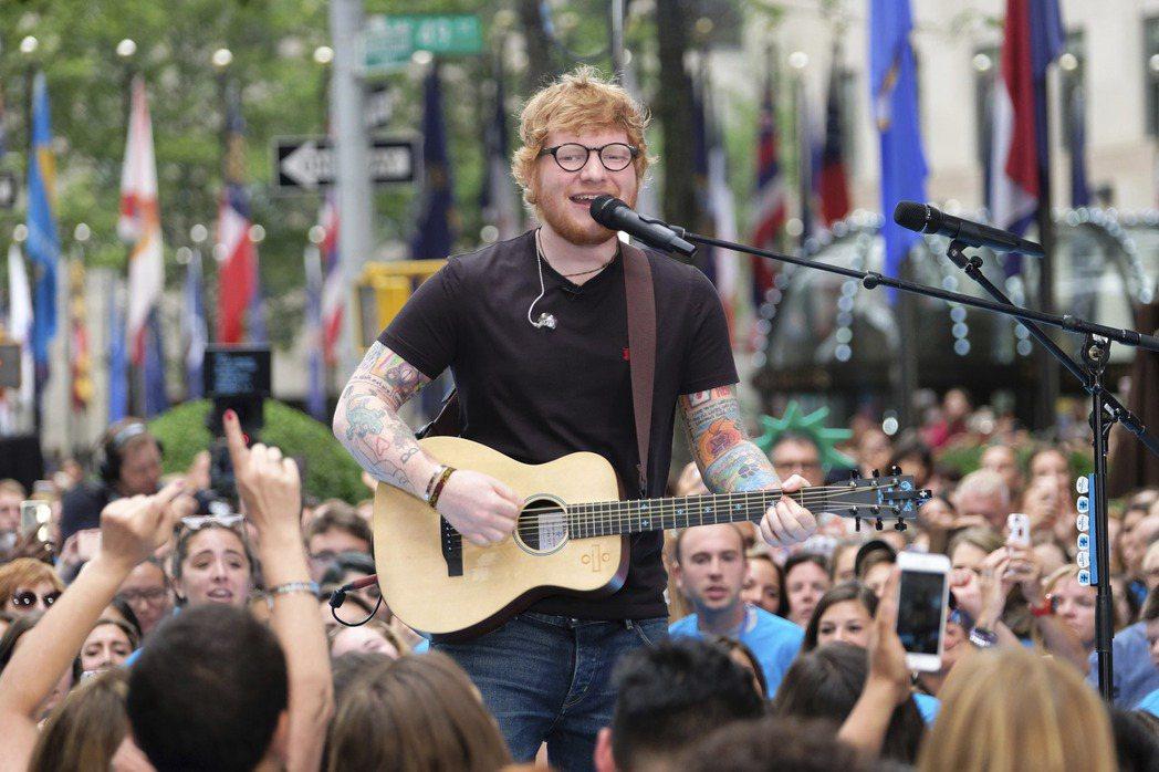英國創作歌手紅髮艾德。 (美聯社)