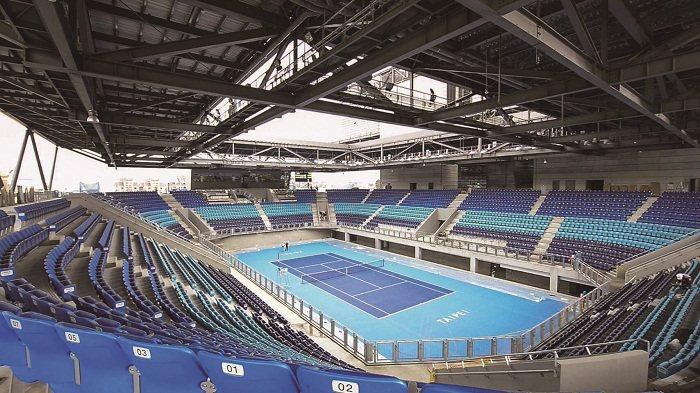 新建的台北市網球中心是依據國際標準設計的綠建築。(圖/2017臺北世大運組委會提...
