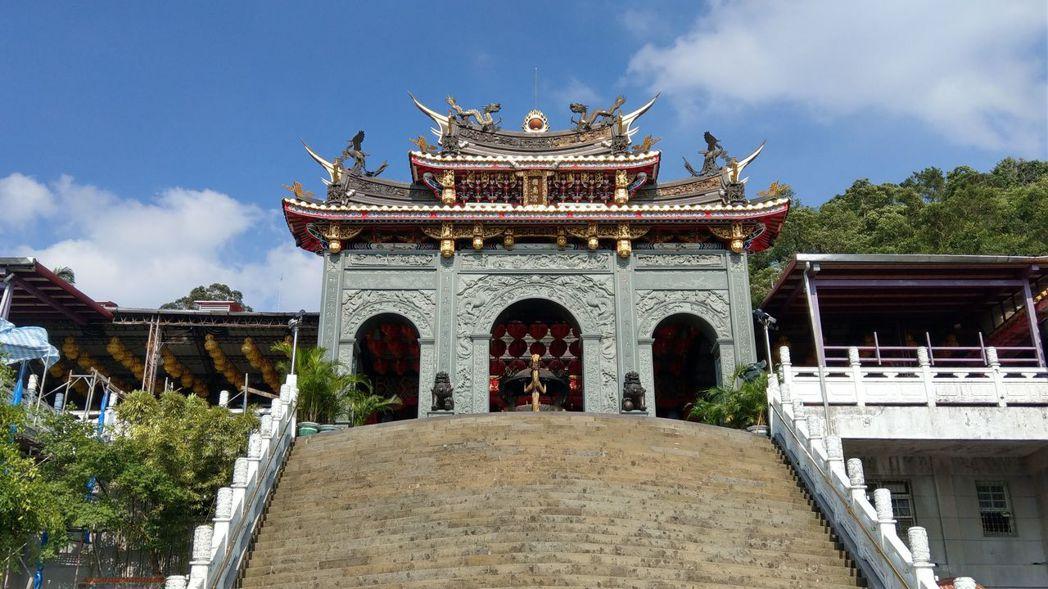 木柵知名廟宇之一指南宮。 記者楊正海/攝影