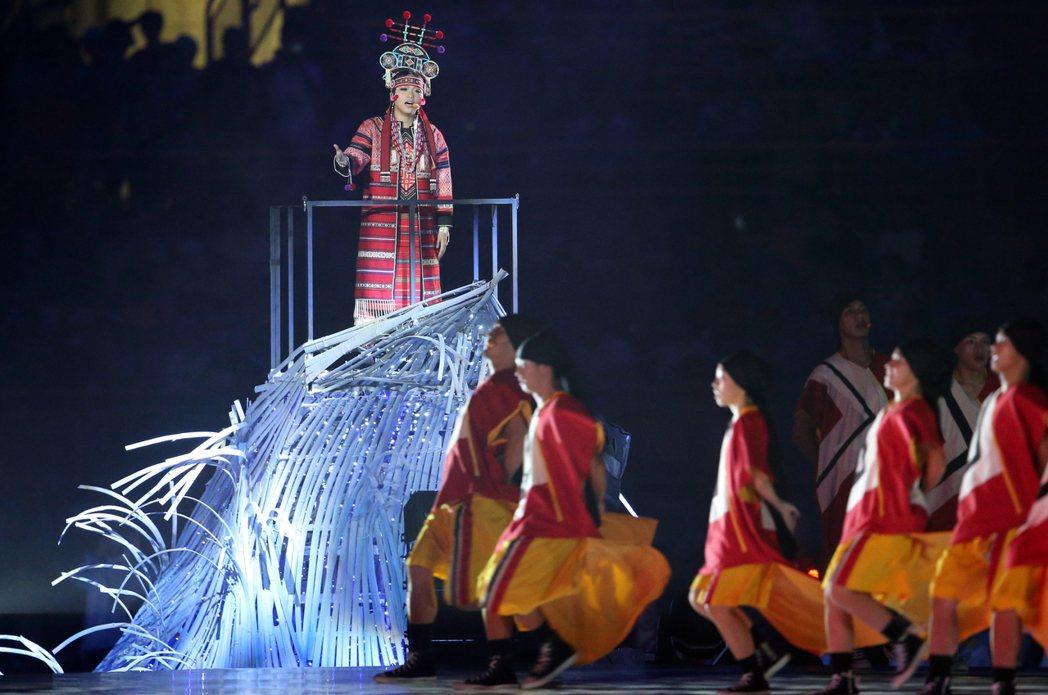 世大運開幕之夜文化表演。 記者許正宏/攝影