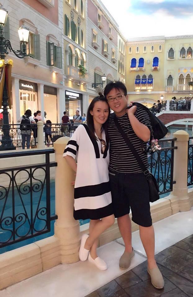 黃雨欣(左)與老公宣布懷第二胎。圖/摘自臉書