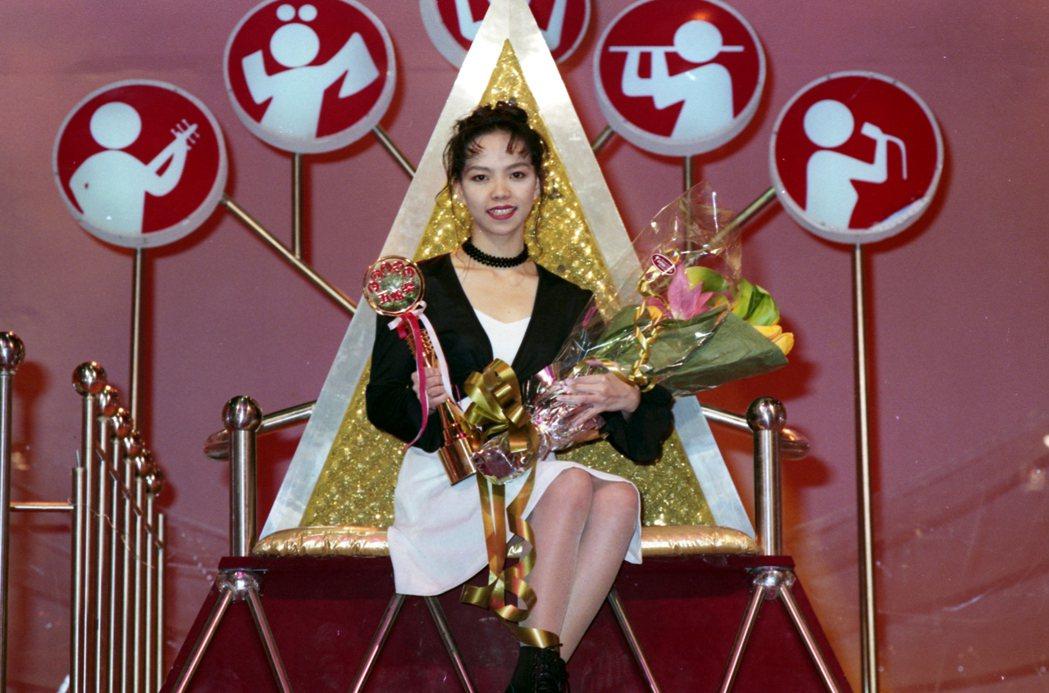 張惠妹(圖)曾參加「五燈獎」,當時就備受矚目。 圖/報系資料照