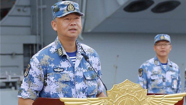 遼寧艦艦長劉喆。 圖/大陸國防部官網
