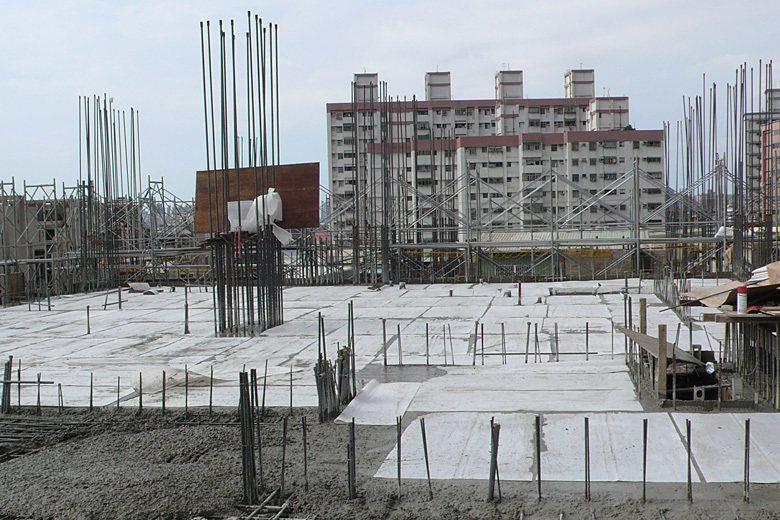 ■混凝土澆置全面覆蓋PP版。