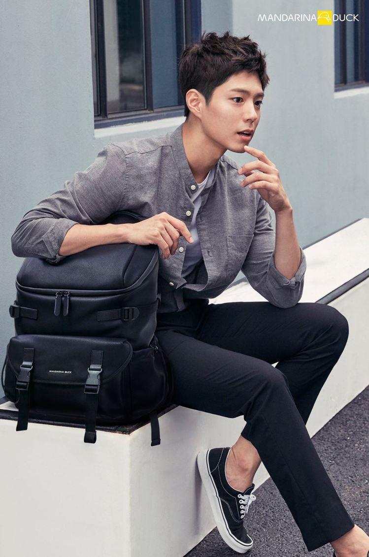 韓國男星朴寶劍成為Mandarina Duck最新一季代言人。圖/摘自Manda...