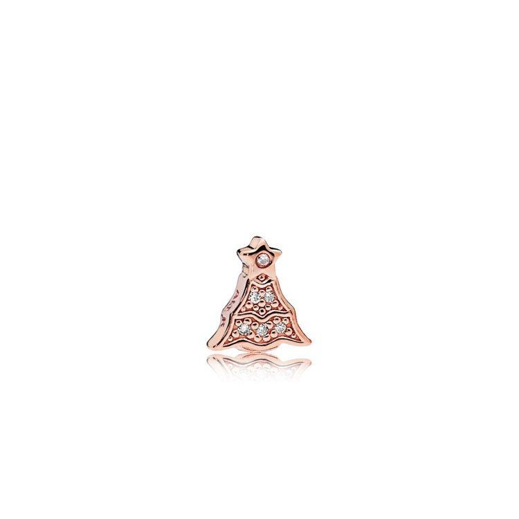 PANDORA Rose 耶誕樹鋯石小配飾,1,080元。圖/PANDORA提供
