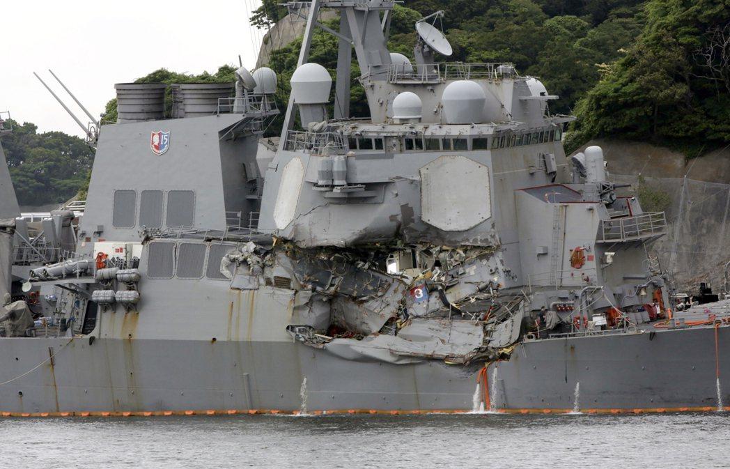 今年6月在日本水域碰撞受損,艦上7人死亡的「費茲傑羅號」驅逐艦,將送回美國密西西...