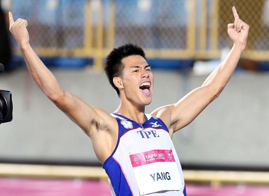 楊俊瀚勇奪世大運史上田徑首面男子短跑金牌。