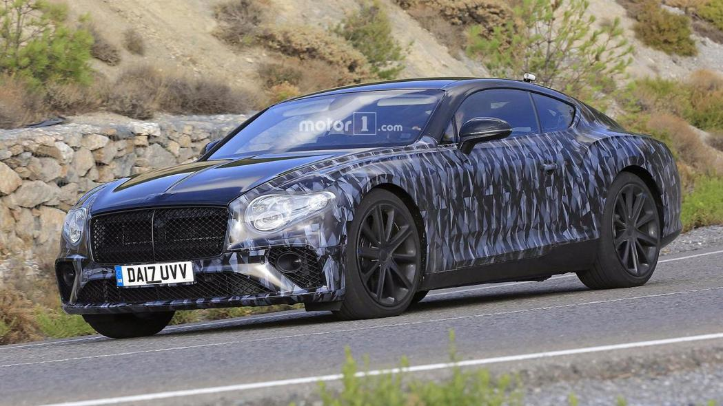 圖為全新Bentley Continental GT間諜照。 摘自Motor 1