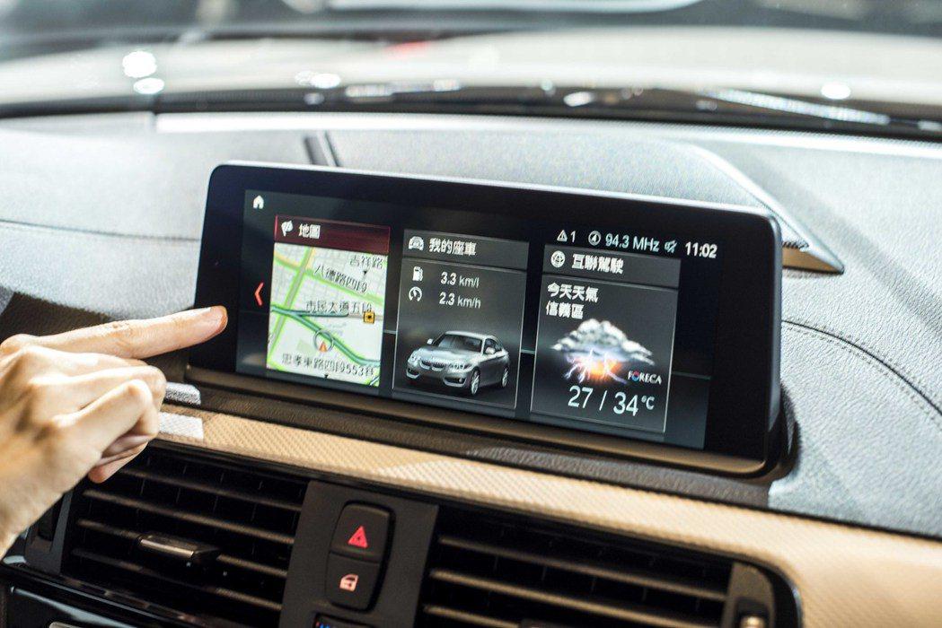圖為 iDrive6.0系統與8.8吋觸控螢幕。 BMW 汎德提供