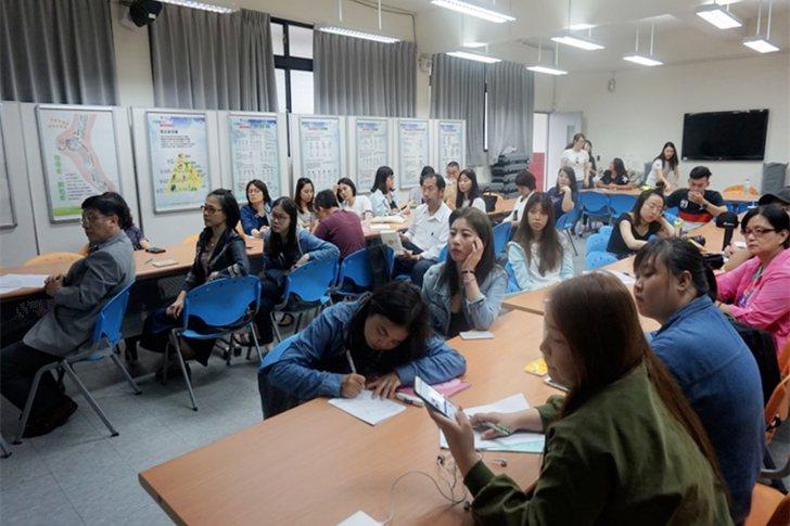 新加坡海外實習說明會,吸引許多學生到場聆聽。 中國科大/提供