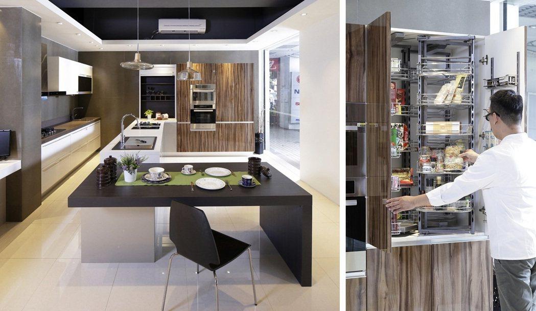 櫻花整體廚房Shinelux系列融合極簡與華美的外觀,深獲Jacques喜愛。大...