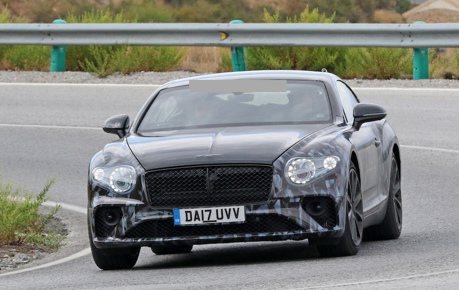2018 Bentley Continental GT偽裝再現 完整身形露出