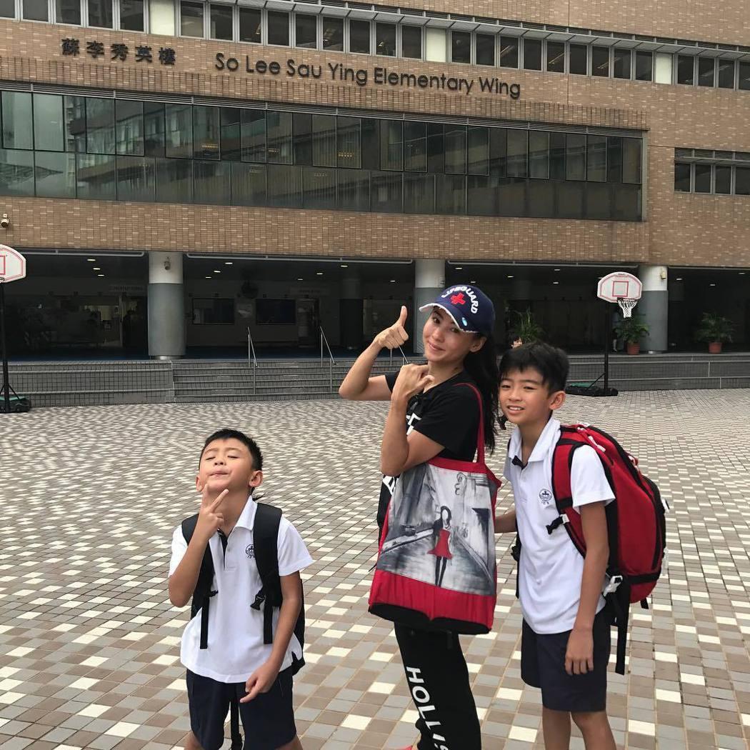 張柏芝不時會在社群網站上分享和兩個兒子生活的點滴。圖/摘自Instagram