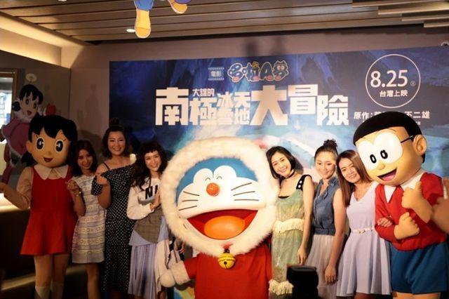 哆啦A夢最新劇場版《大雄的南極冰天雪地大冒險》舉行慶功兼慶生會。圖/蜜蜂工房提供