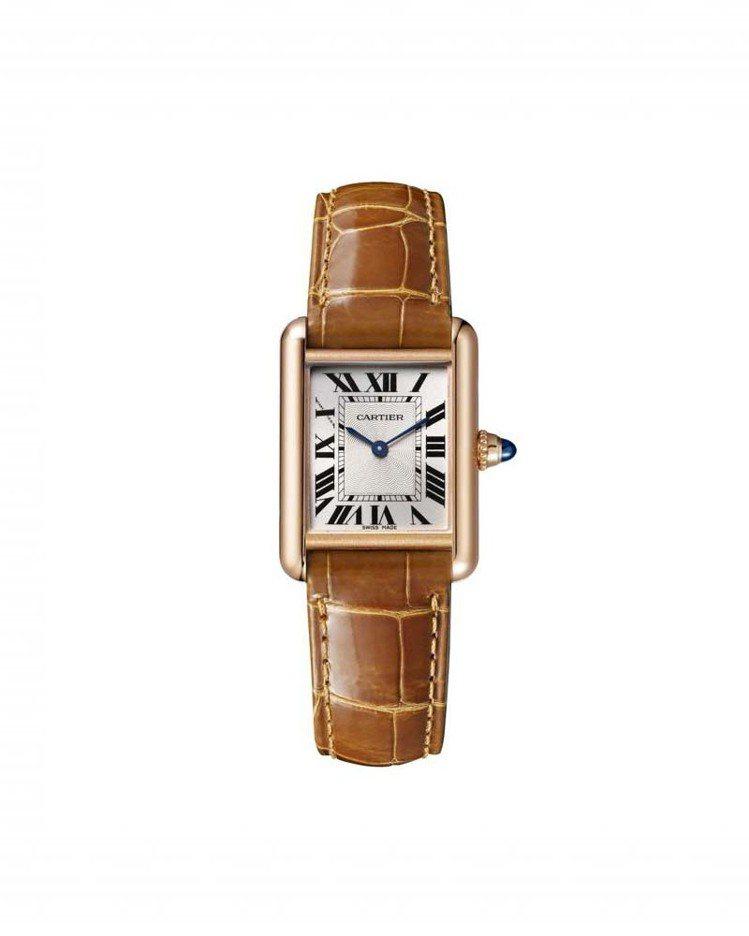 TANK Louis Cartier玫瑰金腕表小型款,8971 MC型手動上鍊機...