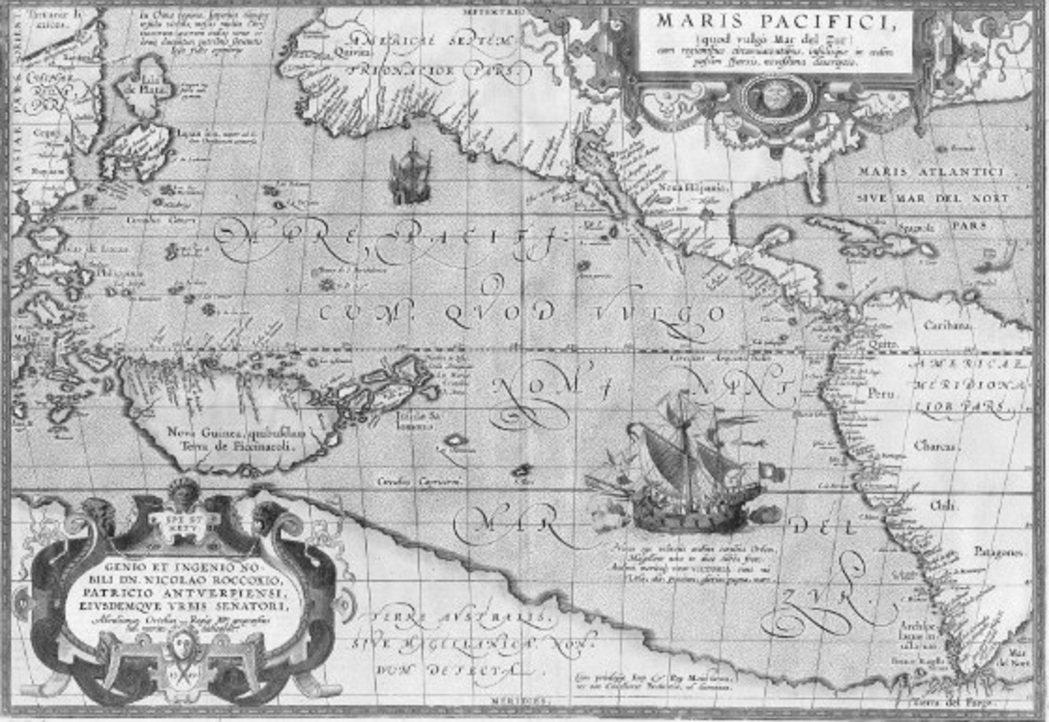 1570年,亞伯拉罕.奧特柳斯(Abraham Ortelius)出版了世界地圖...