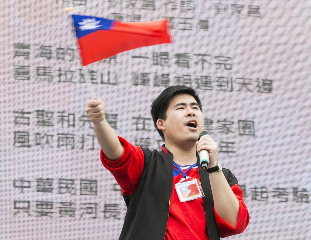 新黨發言人王炳忠。 聯合報系資料照片/記者楊萬雲攝影