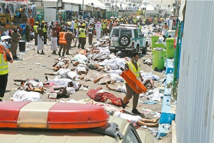 沙烏地阿拉伯伊斯蘭教聖地麥加附近的米納,於兩年前發生推擠踩踏慘劇。  (美聯...