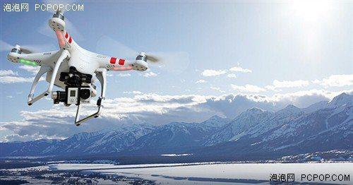 大陸民間企業大疆科技(DJI)研發的無人機可在高空上拍攝。 圖/摘自泡泡網
